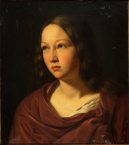 Don't be sad, Aquarius--now is the time to dream and plan. Lars Hansen - 'Young Woman' c1835 {{PD}}