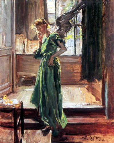 "Just wingin' it. ""Lunch break, 1907"" by Fritz von Uhde - {{PD}}"