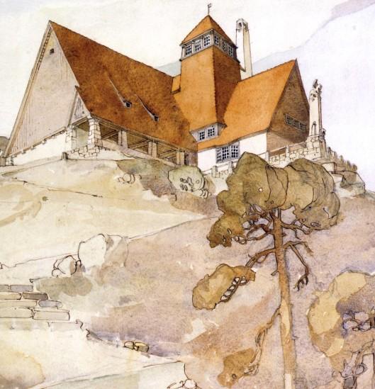 Karl M. Bengtson 'Millesgården på Lidingö' 1908 {{PD}}