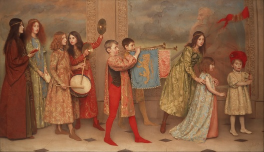 'A pageant of childhood' Thomas Cooper Gotch {{PD}}