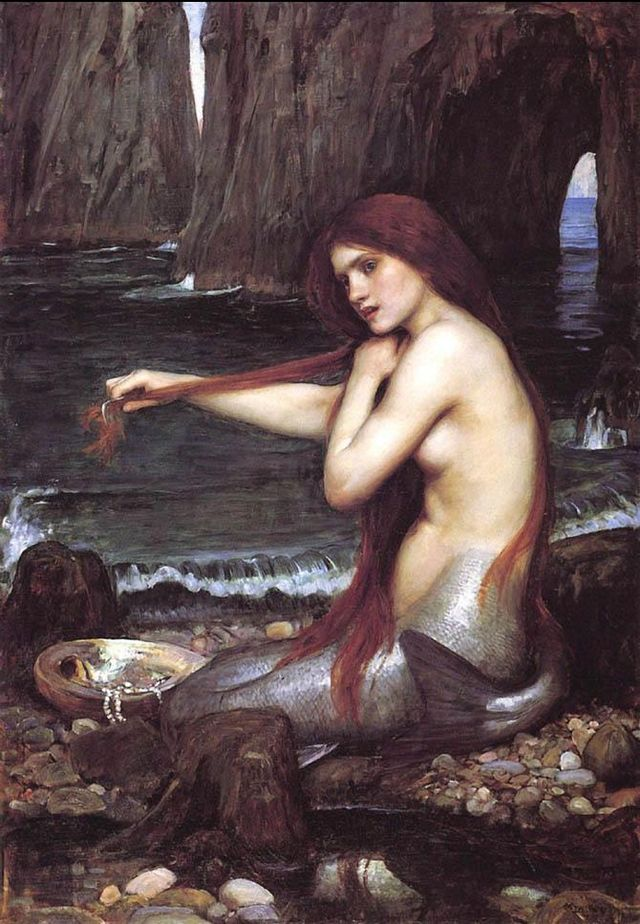 John William Waterhouse - 'Mermaid' {{PD}}