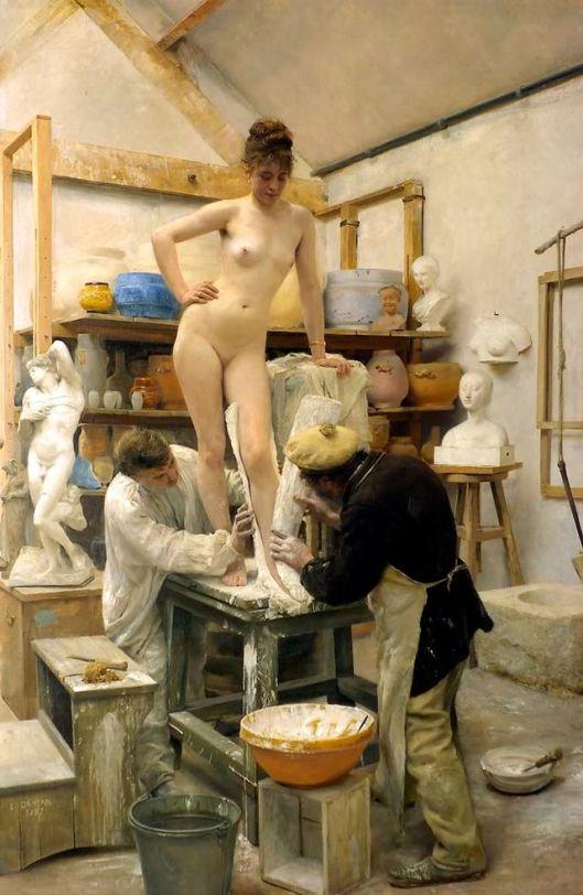 'A Casting from Life' Édouard Joseph Dantan 1890 {{PD}}