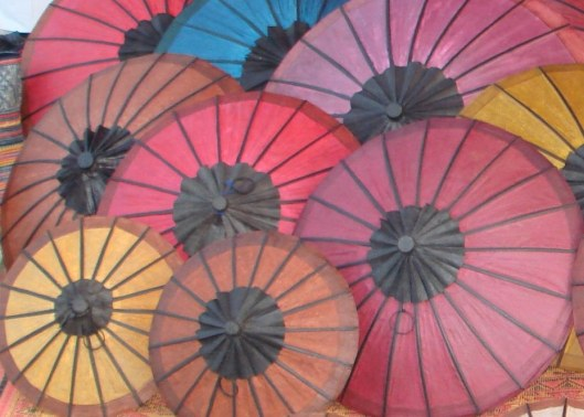 """""""Ban Mixay Umbrellas"""" by PTD Phonsavan - Own work. Licensed under CC BY 3.0 via Wikimedia Commons - http://commons.wikimedia.org/wiki/File:Ban_Mixay_Umbrellas.jpg#mediaviewer/File:Ban_Mixay_Umbrellas.jpg"""