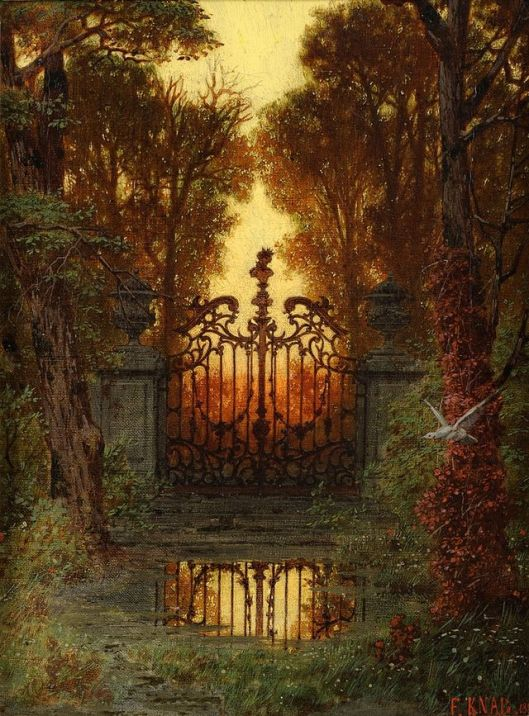 'The Castle Gate' Ferdinand Knab 1881 {{PD}}