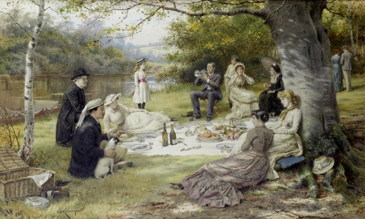 Your year won't exactly be a picnic, Pisces. George Goodwin Kilburne 'The Picnic' c1900 {{PD}}