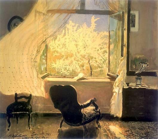 'Spring in Gościeradzu' by Leon Wyczółkowski 1933 {{PD}}
