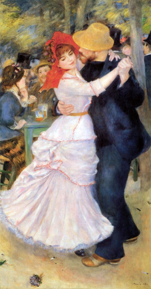 Stay open to meeting someone (or to seeing someone already here in a whole new way), Aries. 'Bougival Dance' Pierre-Auguste Renoir c1882 {{PD}}