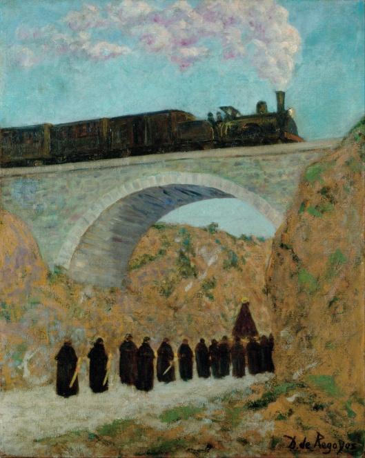 Don't let distractions de-rail you, Aries. Darío de Regoyos - Vendredi Saint en Castille (Good Friday in Castile) {{PD}}