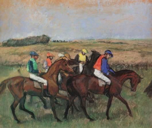 Edgar Degas - 'Les Courses' 1904 {{PD}}