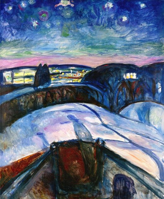 'Starry Night' Edvard Munch c1923 {{PD}}