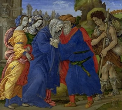 Fortuitous meetings may be a part of your year, Aries. 'Meeting at the Golden Gate' by Filippo Lippi, First half of the 15th century {{PD}}