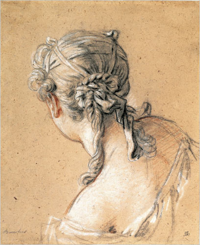Francois Boucher - 'Study of a Young Woman' c1740 {{PD}}