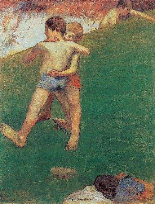 Paul Gauguin 'Jeunes Lutteurs' (Young Wrestlers') 1887 {{PD}}