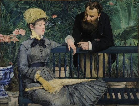 Though things may seem static, there's actually a lot going on (and that you can do) beneath the surface, Taurus. Édouard Manet 'In the Conservatory' 1879 {{PD}}