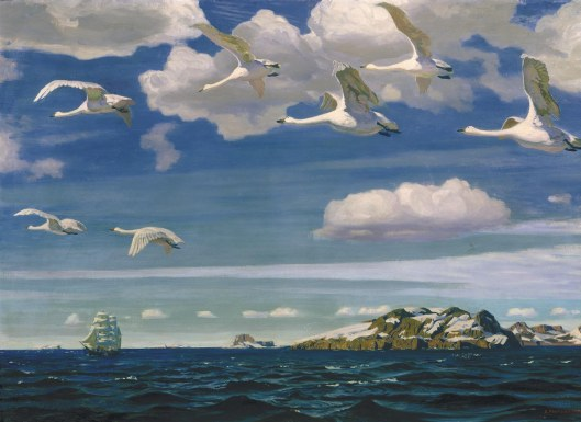 Arkady Rylov  «В Голубом Просторе» 'In the Blue Expanse' 1918 {{PD}}