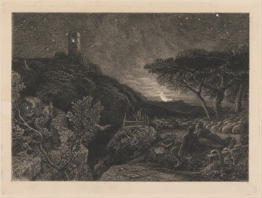 Samuel Palmer 'The Lonely Tower' 1879 {{PD}}