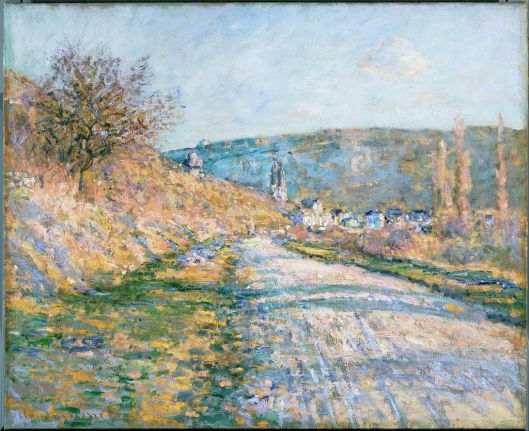 Claude Monet - 'The Road to Vétheuil' 1878 {{PD}}