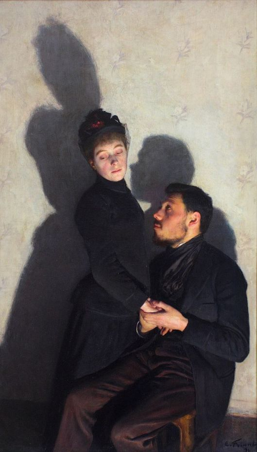 Those shadows are trying to tell you something, Taurus. Emile Friant 1891 {{PD}}
