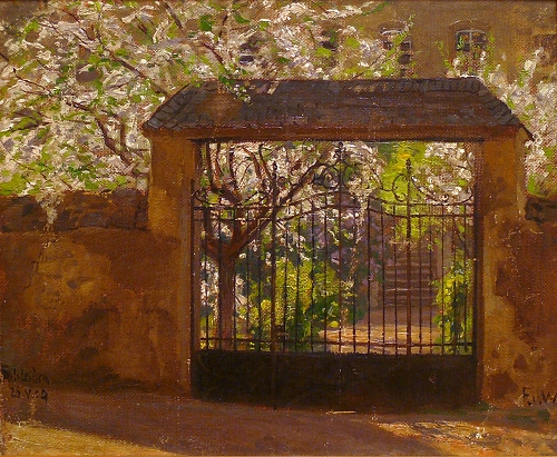 'Gartentor in Schleiden' Fritz von Wille 1909 {{PD}}