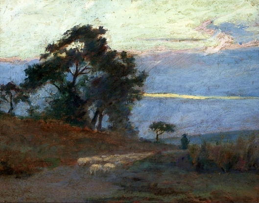 Maksymilian Gierymski 'Landscape at Sunrise' 1868 {{PD}}