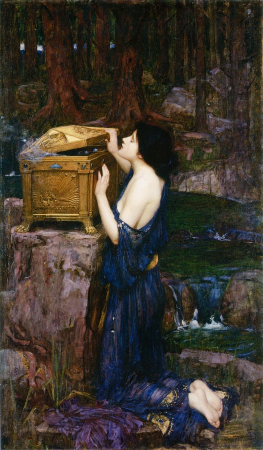John William Waterhouse - Pandora, 1896 {{PD}}