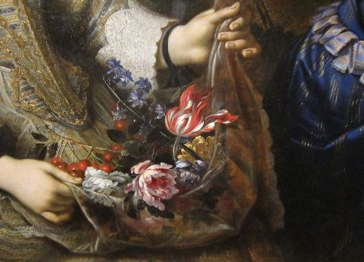 Detail from The Children of the Duc de Bouillon by Pierre Mignard, 1647