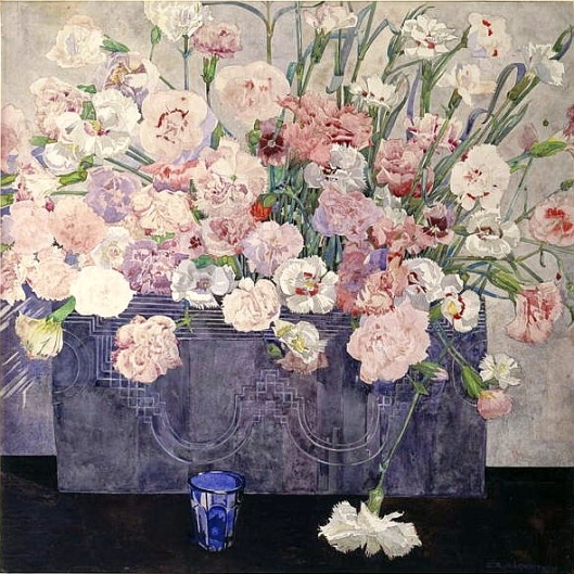 Charles Rennie Mackintosh - 'Pinks' c1920 {{PD}}