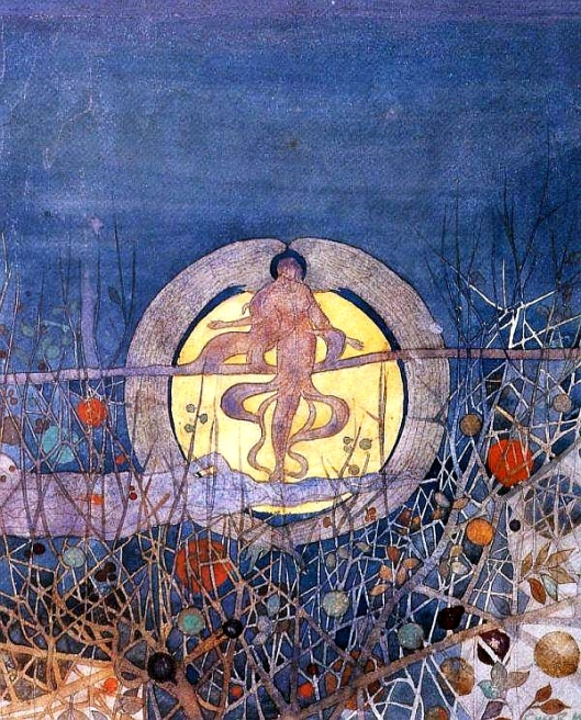 'The Harvest Moon' Charles Rennie Mackintosh 1892 {{PD}}