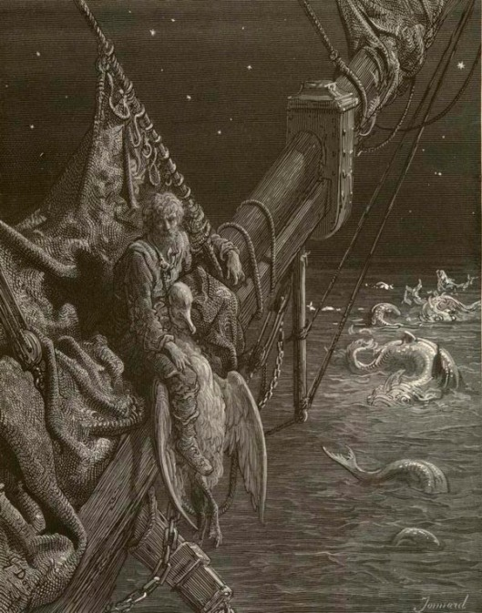 Engraving by Gustave Doré for an 1876 edition of Samuel Taylor Coleridge's The Rime of the Ancient Mariner. Captioned