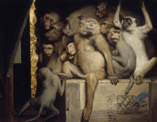 Don't let the crowd or your own fears determine what you do, Gemini. Gabriel Cornelius von Max, 'Monkeys as Judges of Art', 1889 {{PD}}