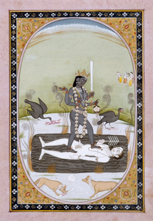 You needn't be quite as vociferous as Kali, dear Gemini, to get good results. Early 19th century India, Artist unknown