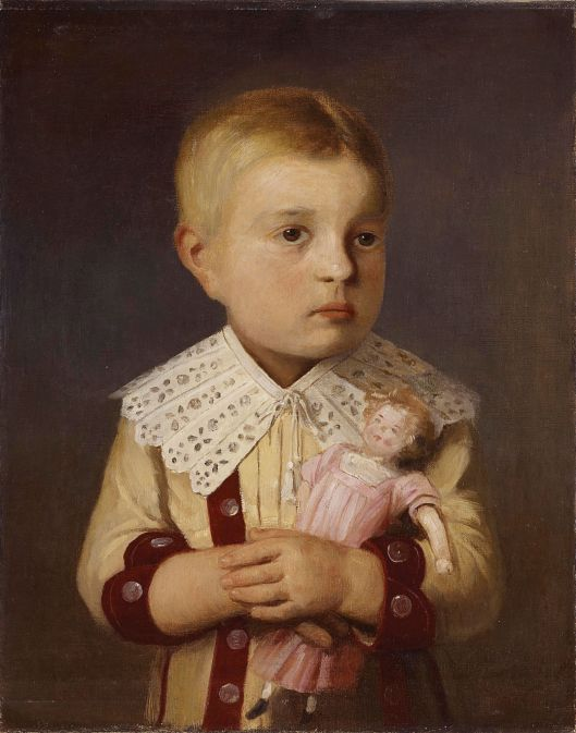 Albert Anker 'Kind mit Puppe' (Child with Doll) c19th century {{PD}}