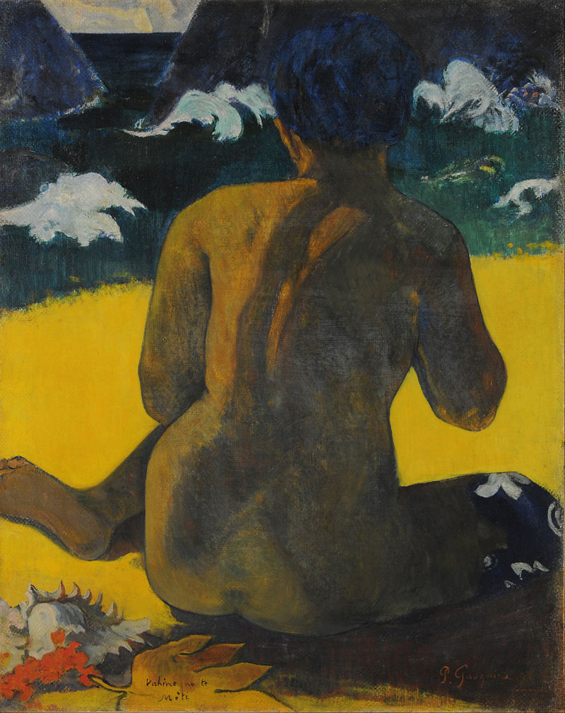 Paul Gauguin - Vahine no te miti (Femme a la mer) (Mujer del mar) 1891 {{PD}}