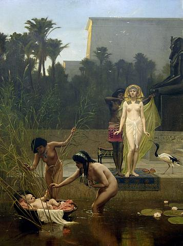 If you hear something in the reeds, go check it out--trust yourself.  Frederick Goodall 'The Finding of Moses' 1862