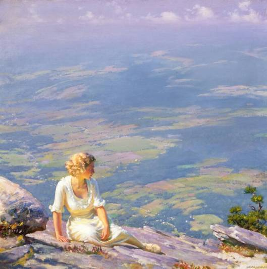 Charles Courtney Curran, 1915 - 'Sunshine and Haze' {{PD}}