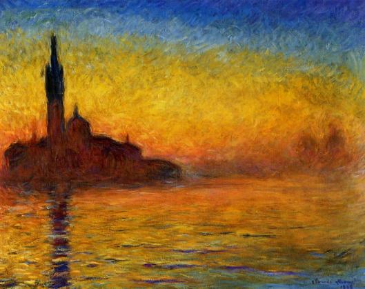 Claude Monet - 'Twilight, Venice' 1907 {{PD}}