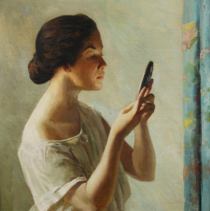 'The Reflection' Edward Simmons, before 1931 {{PD}}