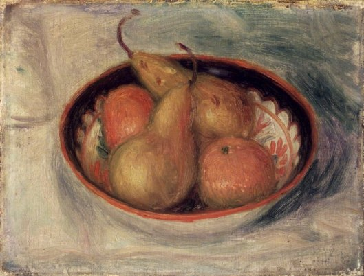 There are pairs, and there are pears, and there are 'Pears and Oranges in a Bowl' - William Glackens 1915 {{PD}}