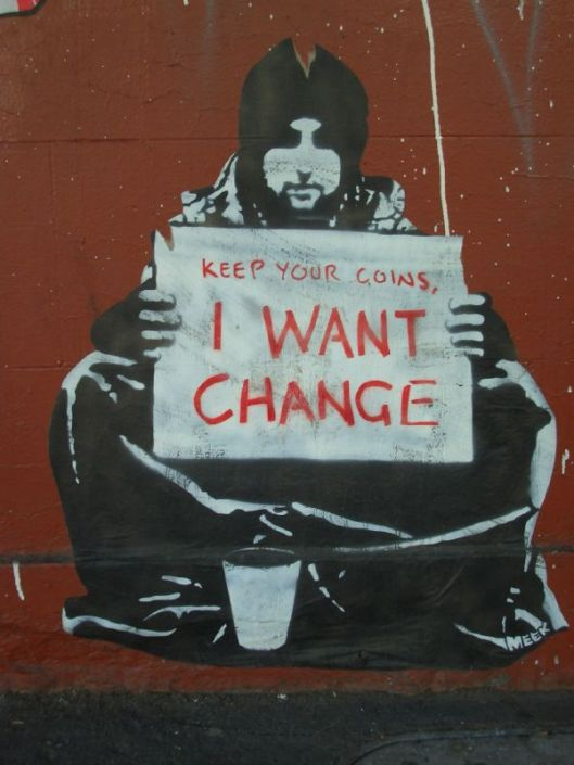 'i want change' Author m.a.r.c. from Berlin https://www.flickr.com/photos/43846837@N00 Creative Commons Attribution-Share Alike 2.0 Generic