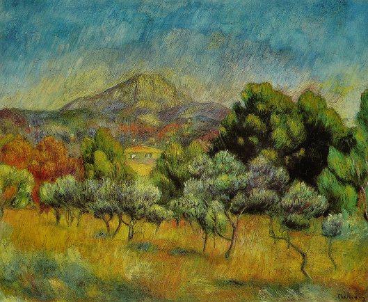 'La Montagne Sainte-Victoire' by Pierre-Auguste Renoir c1889 {{PD}}