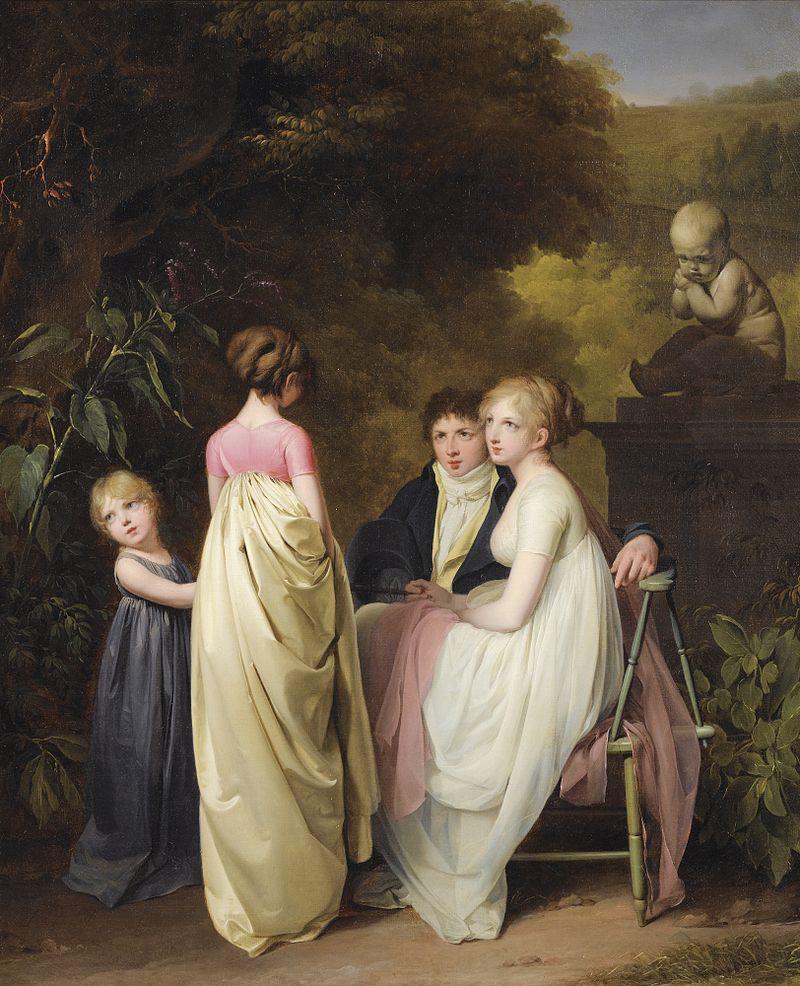 Louis Léopold Boilly - 'Conversation dans un parc' 1812 {{PD}}