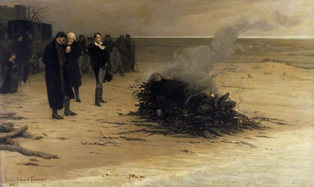 The Cremation of Percy Bysshe Shelley, by Louis Édouard Fournier
