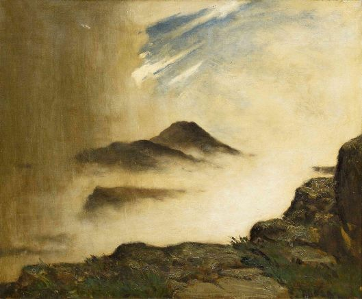 Elliott Daingerfield - Drama on the mountain top (1905) {{PD}}