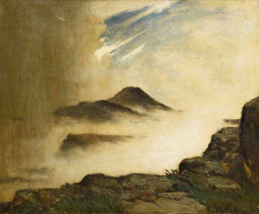 Elliott Daingerfield - Drama on the mountain top (1905) {{PD}}