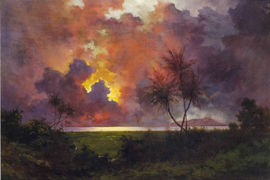 Jules Tavernier - 'Sunrise Over Diamond Head', 1888 {{PD}}