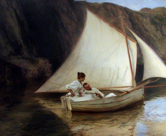'La Petite Barque' Émile Friant 1894 {{PD}}