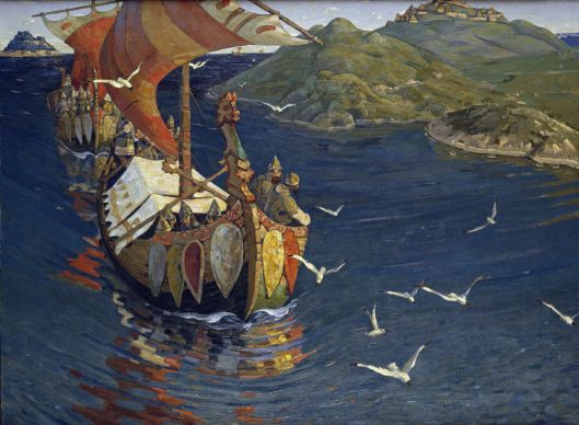 Others may seem to behave like rampaging Vikings, running roughshod over everything you find sacred. Nicholas Roerich {{PD}}