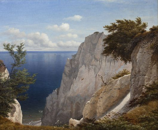 Udsigt over havet fra Taleren på Møns Klint, 1851 Peter Christian Skovgaard {{PD}}