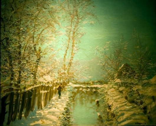 Ya gotta wear shades for something that bright!'Winter Sunshine' by László Mednyánszky c1905 {{PD}}