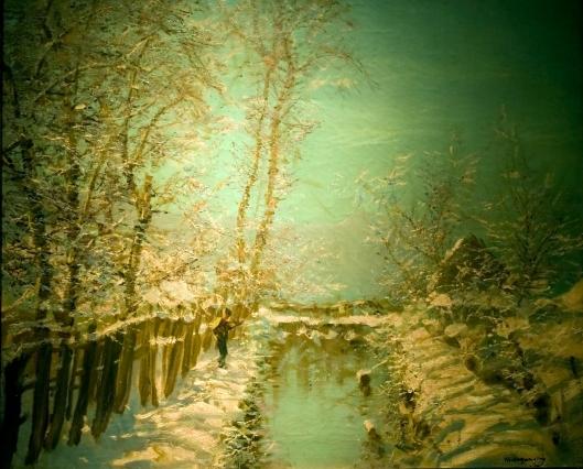 Ya gotta wear shades for something that bright!'Winter Sunshine' by László Mednyánszky c1905 {{PD}}